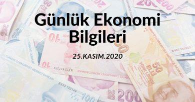 Günlük Ekonomi Bilgileri