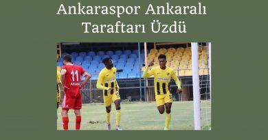 Ankaraspor Ankaralı Taraftarı Üzdü