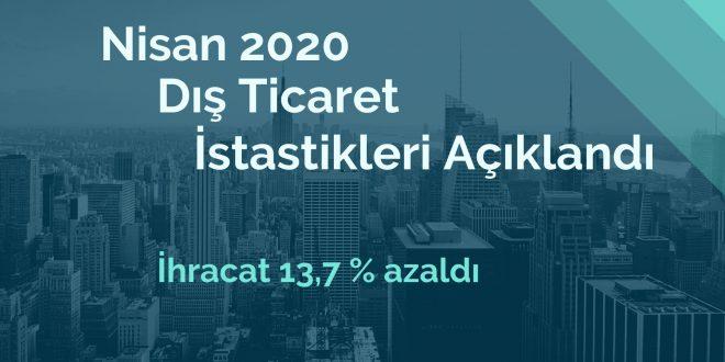Nisan 2020 Dış Ticaret İstatistikleri