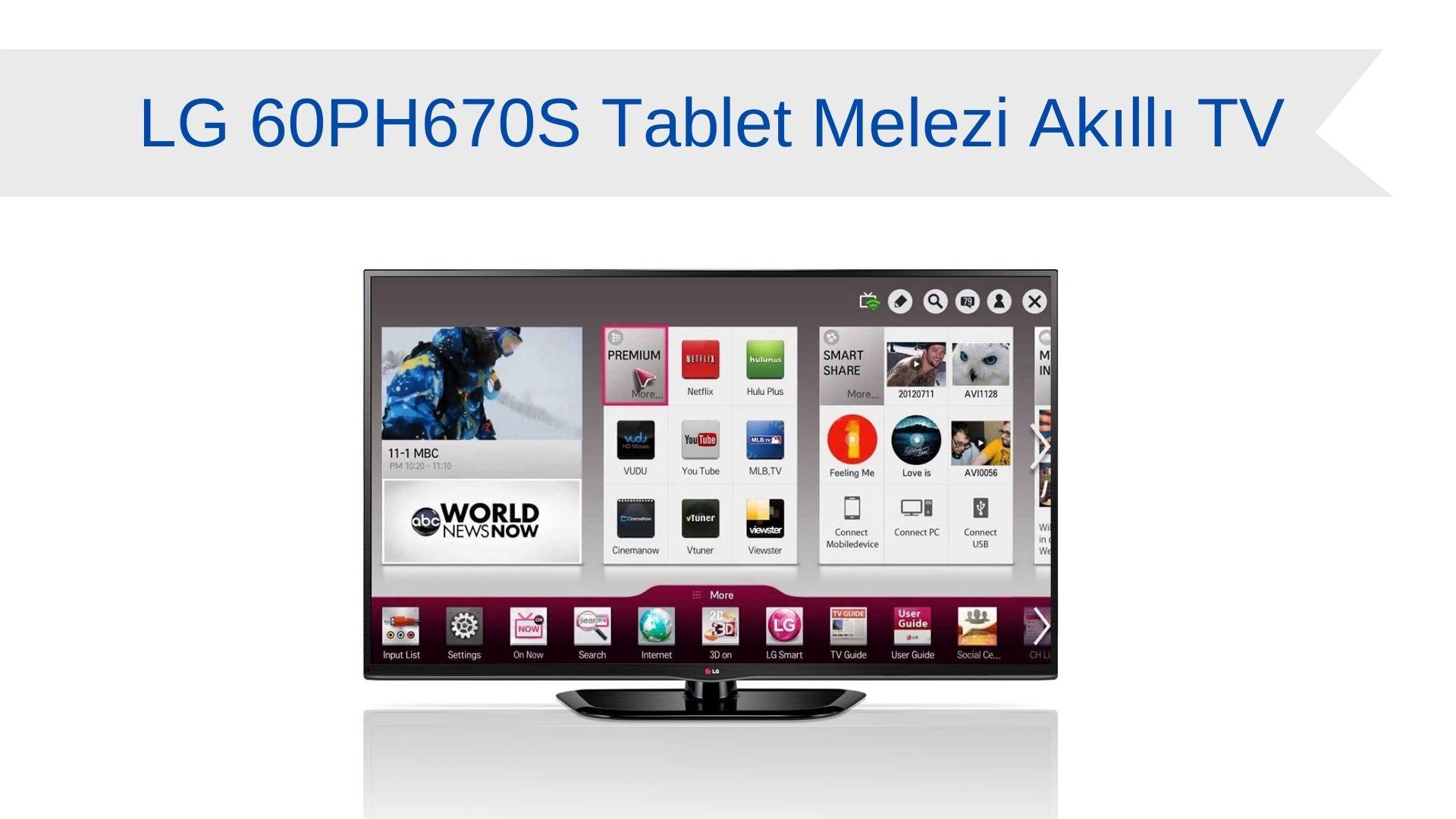 LG 60PH670S Tablet Melezi Akıllı TV